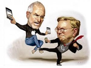 Поединок Стива Джобса и Эрика Шмидта только начинается.