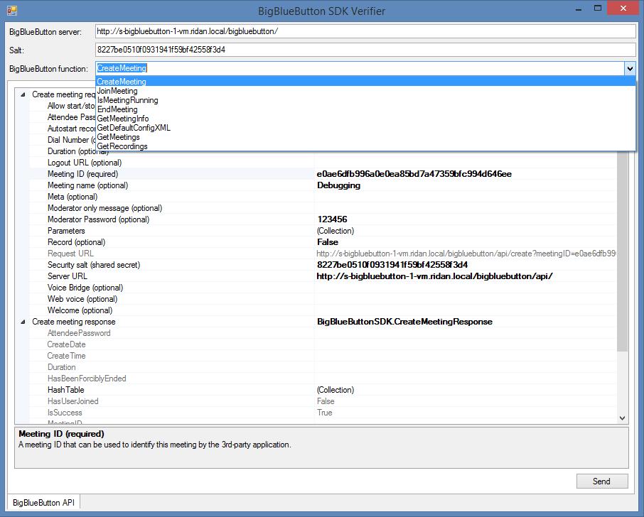 BigBlueButtonSDK.NET