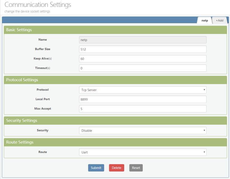 Elfin EW11 Modbus TCP communication settings