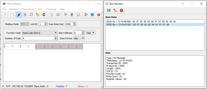 4-x relay board C0135 managed by Modbus RTU protocol (RS-485