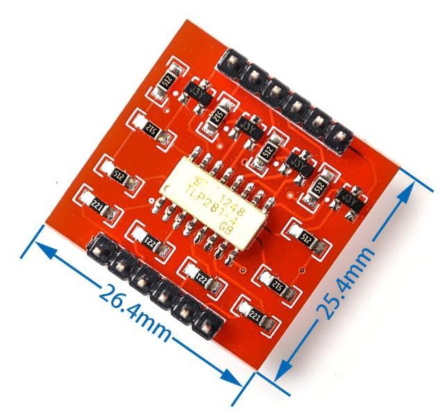 4-х канальный модуль с оптической развязкой на оптронной сборке TLP281-4