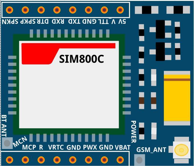 SIM800C fritzing part *.fzpz