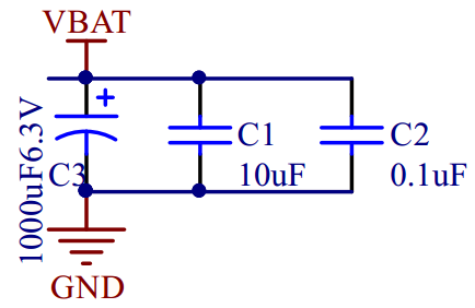 SIM800Cpower converter filters