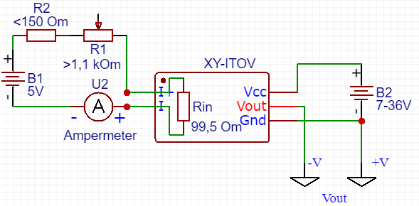 Current 4.. 20 mA to Voltage converter calibratio